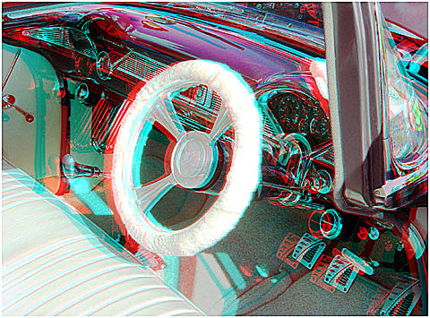 Bel air '57 Chev' interior. 3-D Photography by Marc Dawson.