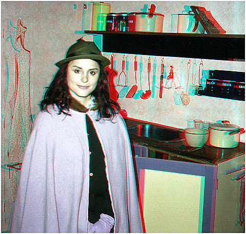 Rebecca Trelease as Anne Frank. 3-D Photography by Marc Dawson.