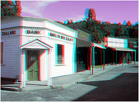The BNZ in Shanty Town. 3-D Photography by Marc Dawson.