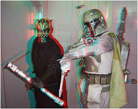 Darth Maul and co. 3-D Photography by Marc Dawson.