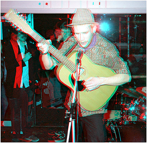 Leighton Broom at La Commune Cafe. 3-D Photography by Marc Dawson