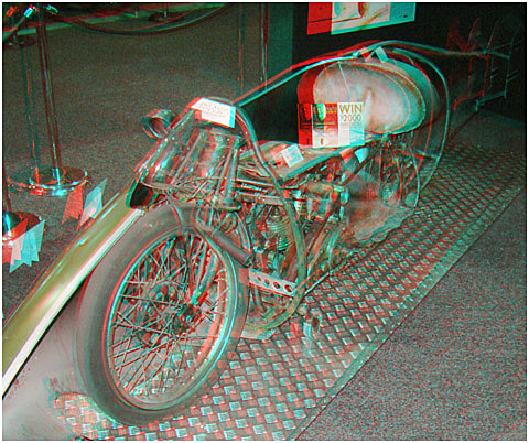 Replica of Burt Munro's 'Worlds Fastest Indian.' 3-D Photography by Marc Dawson.