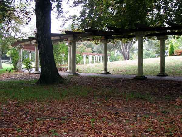 The Curved Section of the Pergola Colonnade.